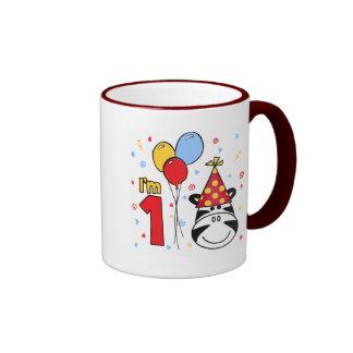 Zebra Face First Birthday Coffee Mug