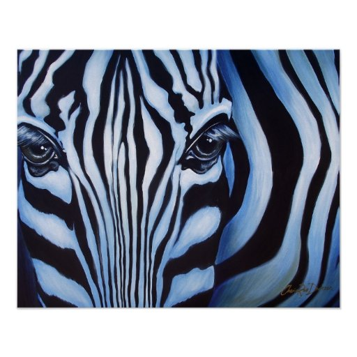 Zebra Face Wildlife Art Print   Zazzle