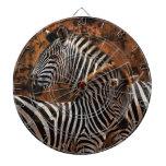 Zebra fall stripes baby dartboards