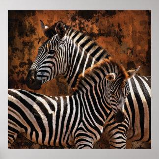 Zebra Fall Stripes HUGE poster, print, wall art