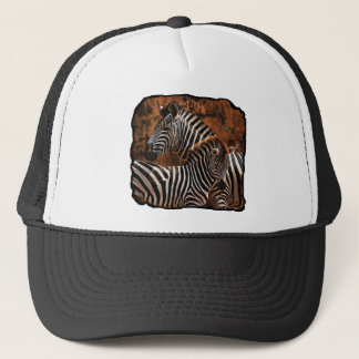 zebra fall stripes trucker hat