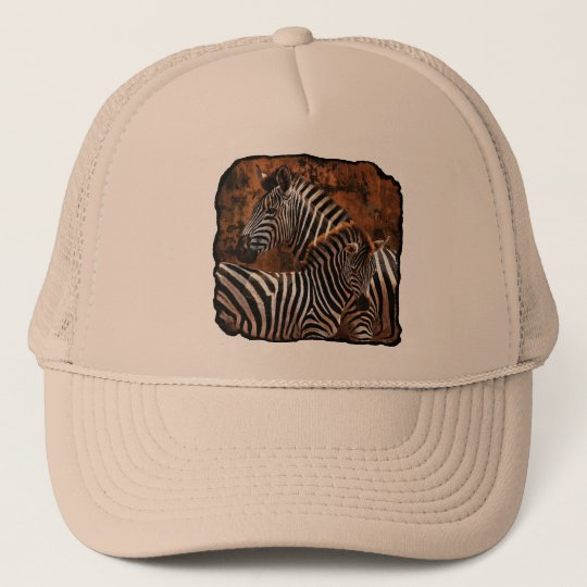 zebra fall stripes trucker hat