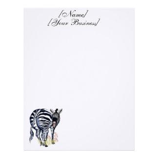 Zebra Fat Butt Letterheads Letterhead