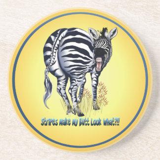 Zebra Fat Butt Shirts Coaster