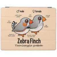 Zebra Finch Statistics iPad 2/3/4 Cover
