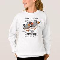 Zebra Finch Statistics Girls' Hanes ComfortBlend® Sweatshirt