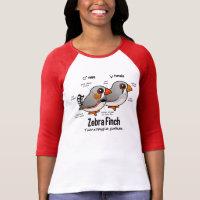 Zebra Finch Statistics Ladies Raglan Fitted T-Shirt