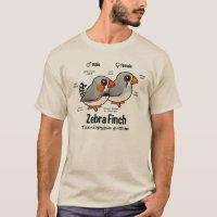 Zebra Finch Statistics Men's Basic T-Shirt