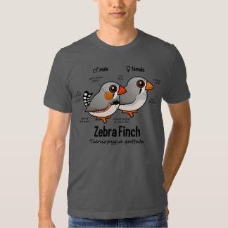 Zebra Finch Statistics Tee Shirt