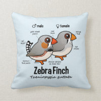 Zebra Finch Statistics Cotton Throw Pillow