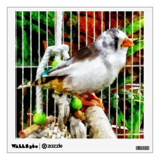Zebra Finch Wall Sticker