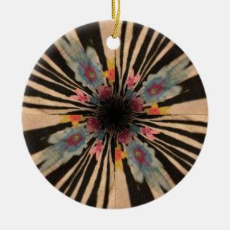 Zebra Flower Ceramic Ornament