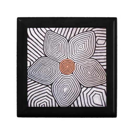 Zebra Flower Keepsake Box