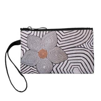 Zebra Flower Pattern Coin Bag Coin Wallets