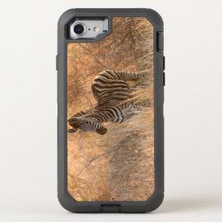 Zebra foal in morning light OtterBox defender iPhone 8/7 case