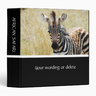 Zebra foal stripes baby photography binder