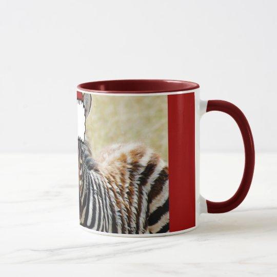 Zebra foal stripes baby photography mug
