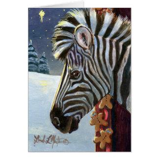 Zebra For Christmas Greeting Card