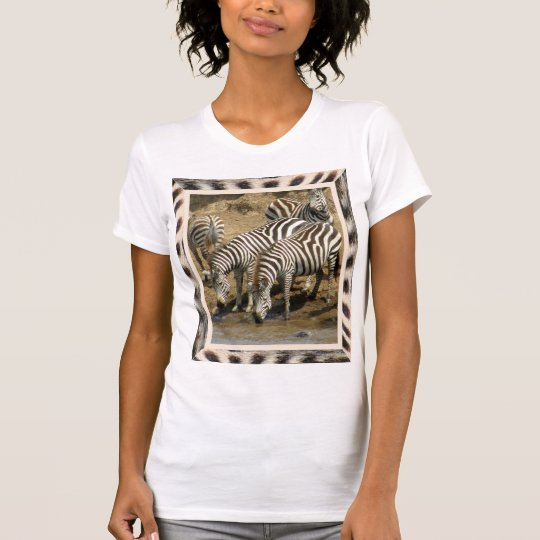 Zebra framed zebras at the watering hole T-shirt