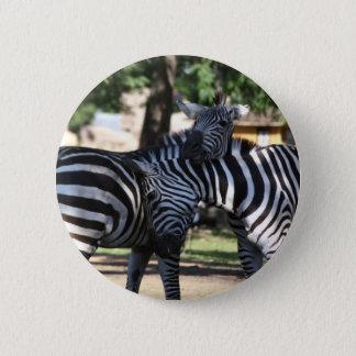 Zebra Friends Button