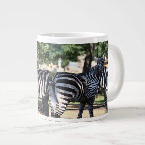 Zebra Friends Giant Coffee Mug