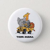 Zebra Friends Pin