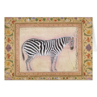 Zebra, from the 'Minto Album', 1621 (gouache on pa Card