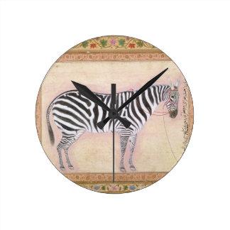 Zebra, from the 'Minto Album', 1621 (gouache on pa Wallclock