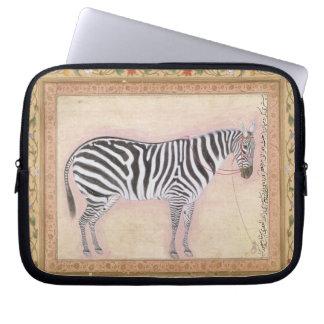 Zebra, from the 'Minto Album', 1621 (gouache on pa Laptop Sleeve