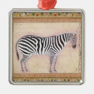 Zebra, from the 'Minto Album', 1621 (gouache on pa Ornaments