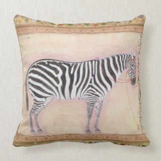 Zebra, from the 'Minto Album', 1621 (gouache on pa Pillow