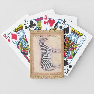 Zebra, from the 'Minto Album', 1621 (gouache on pa Poker Deck
