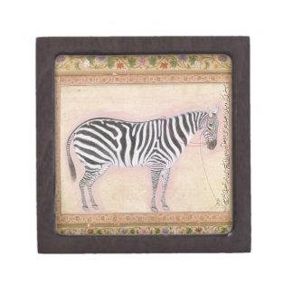 Zebra, from the 'Minto Album', 1621 (gouache on pa Premium Jewelry Boxes