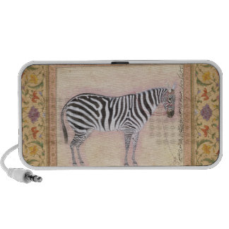 Zebra, from the 'Minto Album', 1621 (gouache on pa iPhone Speakers