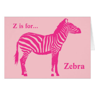 Zebra - Fuchsia and light pink Stationery Note Card