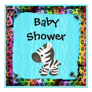 leopard print baby shower invitations announcements zazzle