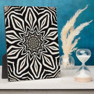 Zebra Fur Kaleidoscope Abstract Plaque