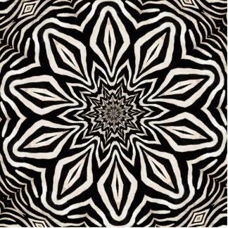 Zebra Fur Kaleidoscope Abstract Statuette