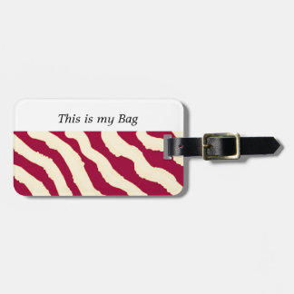 Zebra Fur Pattern Luggage Tag