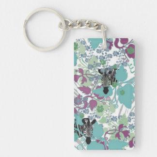 Zebra Garden Acrylic Key Chain