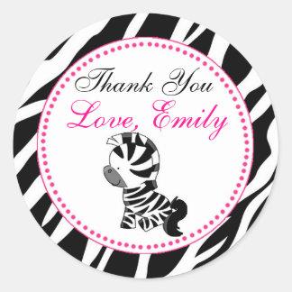 Zebra Gift Favor Label Jungle Safari