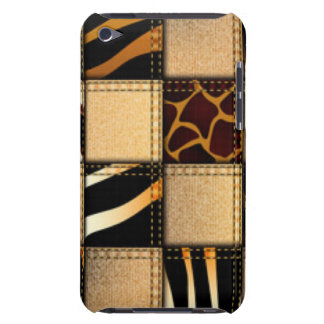 Zebra Giraffe Animal Print Jeans Collage iPod Touch Case-Mate Case
