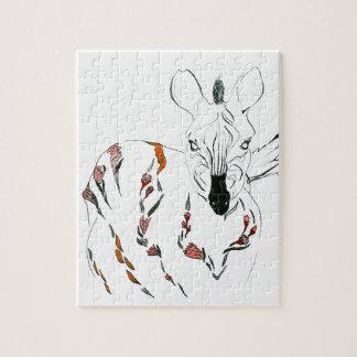zebra goes floral jigsaw puzzle