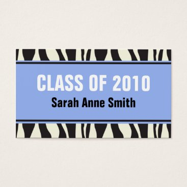 Professional Business Zebra Graduation Business Card