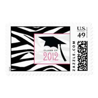 Zebra & Graduation Cap Class of 2012 Stamp
