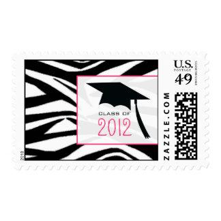 Zebra & Graduation Cap Class of 2012 Stamps