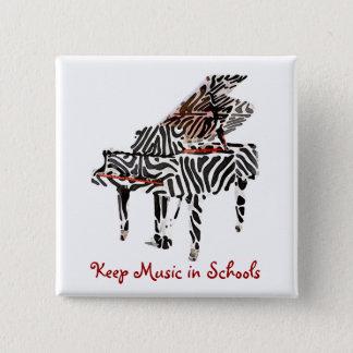Zebra Grand Piano ~ Button