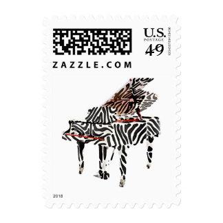 Zebra Grand Piano ~ Stamps Postage