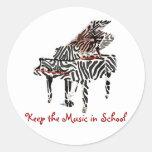 Zebra Grand Piano ~ Stickers