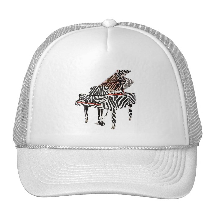 Zebra Grand Piano Trucker Hat